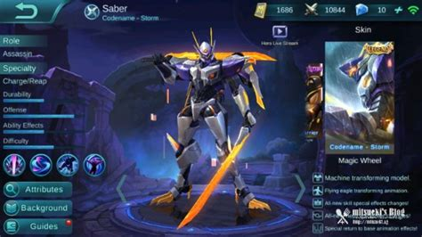 Kaos Mobile Legend Of Allucard Skin new saber skin codename magic wheel event hermit crab mobile legends