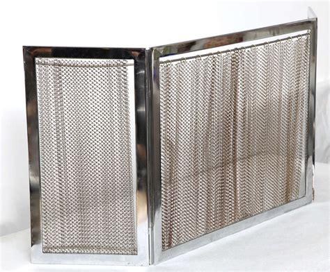Metal Fireplace Screens by Chrome And Metal Fireplace Screen For Sale At 1stdibs