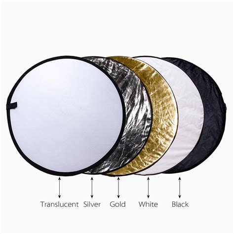 Outdoor Light Reflector Etekcity 43 Quot 110cm 5 In 1 Portable Collapsible Photo Reflector Diffuser