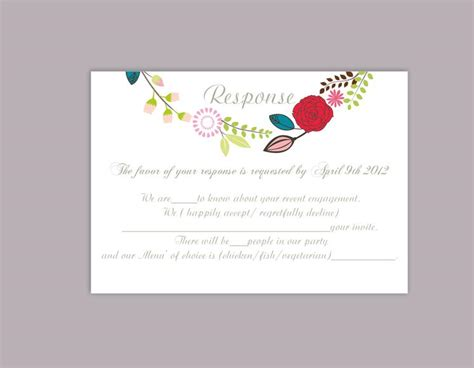 wedding rsvp cards templates thatswhatsup