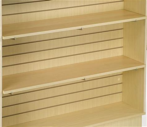 melamine slat wall shelving maple laminate finish