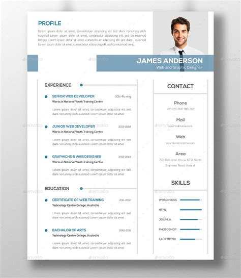 resume templates it professional 46 modern resume templates pdf doc psd free