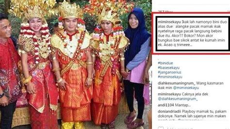 Tradisi Orang Orang Nu Lkis heboh pemuda sumsel nikahi 2 gadis sekaligus dalam satu pelaminan nulis
