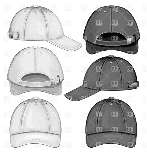 Baseball Cap Ori By Familly Bordir blank template of baseball cap front back and side view
