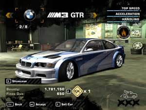 nfs shift bmw m3 gtr most wanted