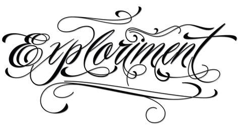 script writing tattoo designs exploriment piel script
