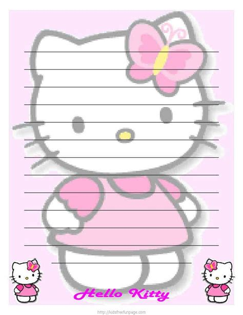 free printable hello kitty planner hello kitty printable stationary my planner pinterest