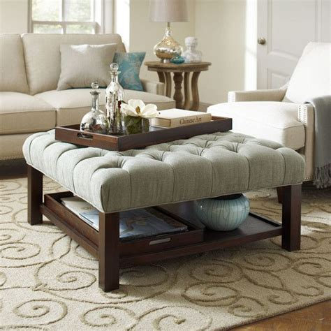 upholstered ottoman coffee table 25 best ideas about ottoman coffee tables on