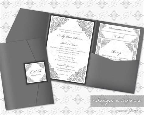custom folder wedding invitations printable pocket folder invitation digital template 2478705 weddbook