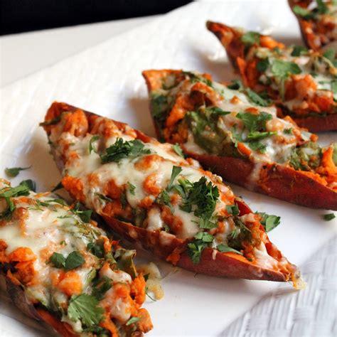 twice baked sweet potatoes recipe dishmaps