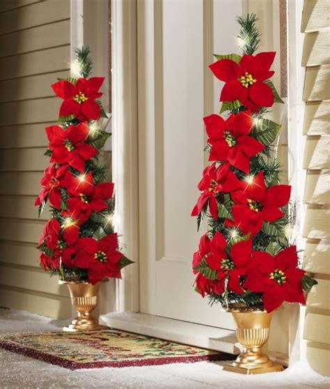 Decorations Poinsettia - 15 sensational front door decor with lovely