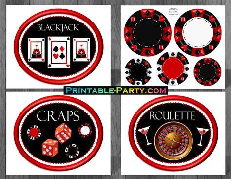 Printable Casino Party Decorations | printable las vegas party supplies las vegas casino