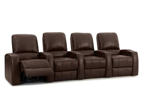 storm xl theater recliners brown premium leather power