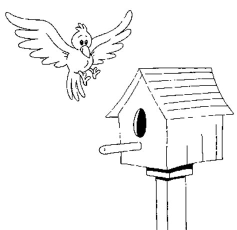 coloring pages bird houses birdhouse coloring page coloring com