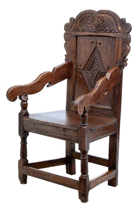 Wainscot Chair by Late 17th Century Carved Oak Wainscot Chair