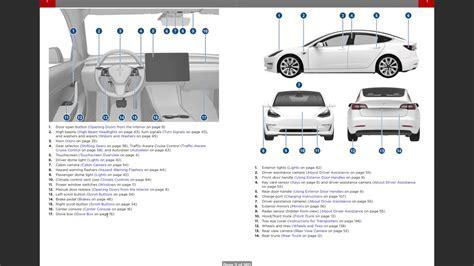 tesla model 3 manual tesla model 3 leaked car manual overview