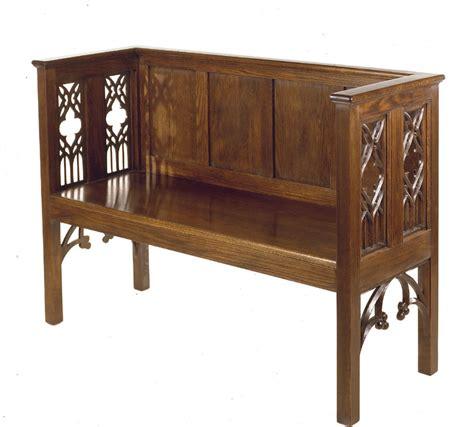 gothic bench william j ralston fine furniture
