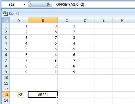 excel 2007 a3 format einstellen offset a3 0 2 offset 171 lookup reference functions