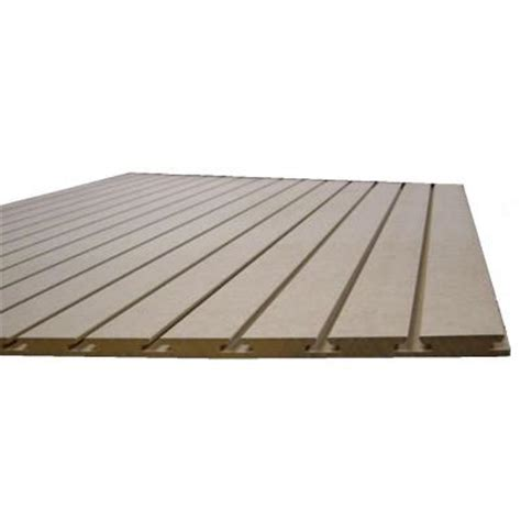 marlite 3 4 in x 48 in x 8 ft paint grade slatwall melamine board 1700708 the home depot