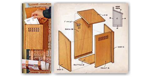 wooden mailbox plans woodarchivist