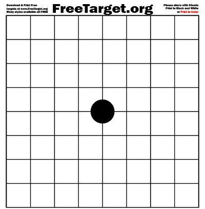 printable grid shooting targets black 1 dot 1 inch grid target freetarget org free