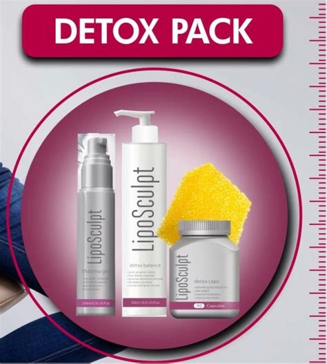 Detox Pack For by Liposculpt Detox Pack Best Buys