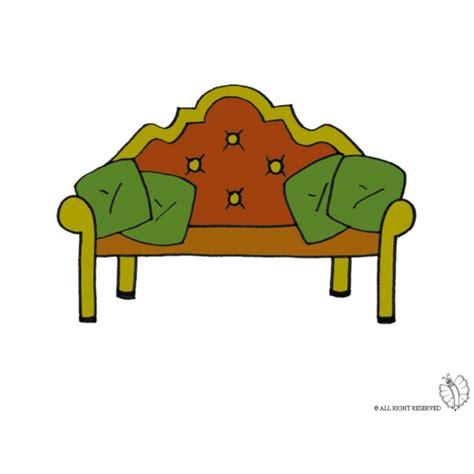disegno divano disegno di divano antico a colori per bambini