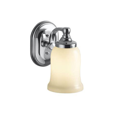 kohler bancroft 1 light polished chrome led wall sconce k