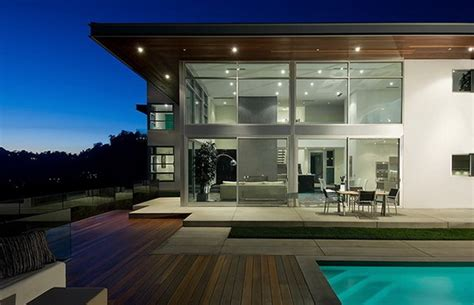 home design story pool soaring modern two story home and spacious pool by steven
