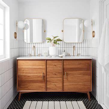 mid century double bathroom vanity acorn west elm