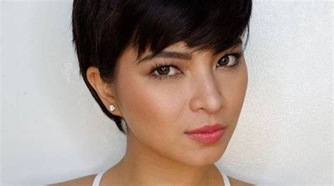 angel locsin in curly hair angel locsin s pixie cut will make you want to cut your