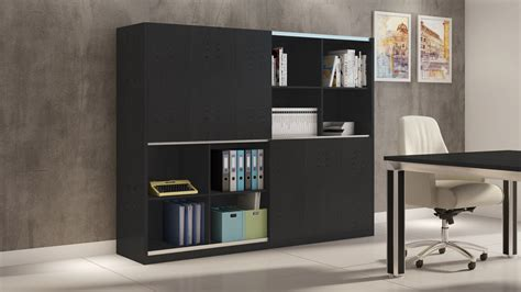 Jackson Executive Bookcase and Wall Unit with Sliding