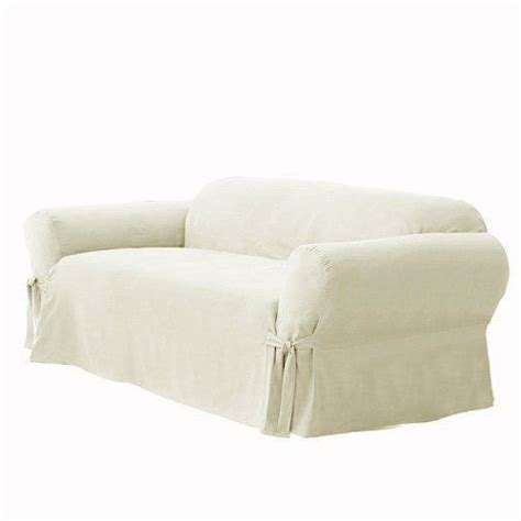 white linen sofa slipcover soft micro suede solid off white eggshell ivory couch sofa