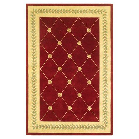 burgundy and gold rug home decorators collection chadwick burgundy and gold 5 ft x 8 ft area rug 0006115150 the