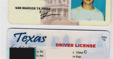 texas drivers license id template aaa pinterest d