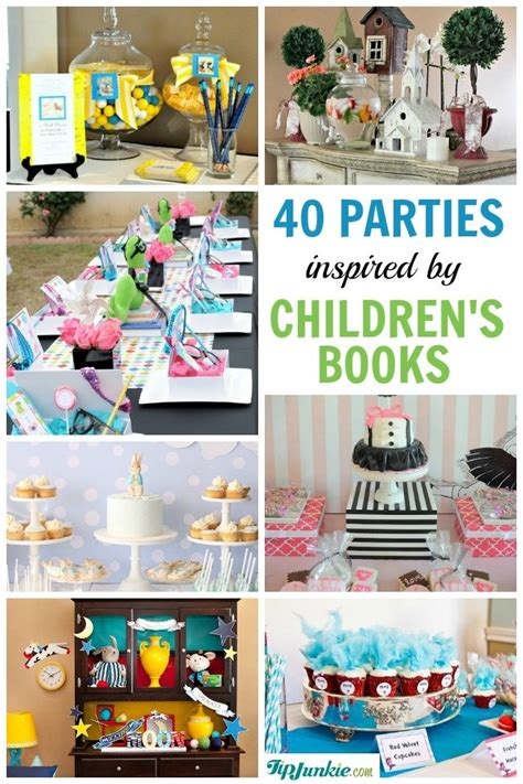 book themes for toddlers 40 popular childrens book birthday parties tip junkie