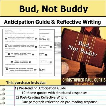 themes of the book bud not buddy bud not buddy anticipation guide reflection