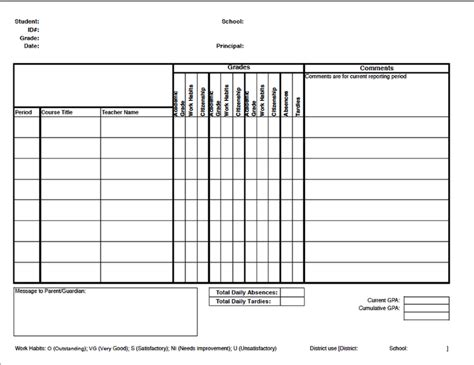 report card templates report cards illuminate education