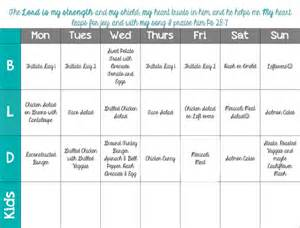 Whole30 Meal Planning Template by Whole 30 Week 1 Goals Meal Plan And Grocery List