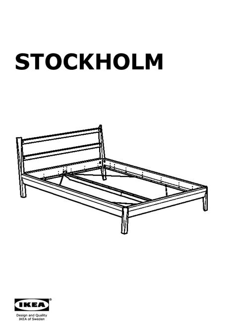 stockholm bed frame brown l 246 nset ikea united states