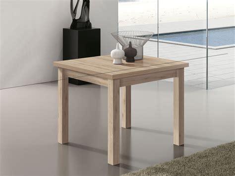 mueble mesa cuadrada extensible comedor madera melamina