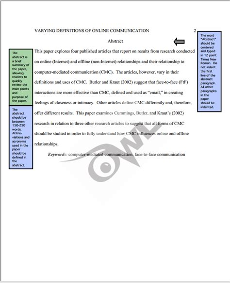 purdue owl research paper apa sle paper purdue owl kinesiology libguides at