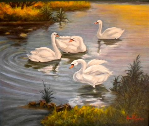 cuadros de cisnes cuadro anahiguerasgalan