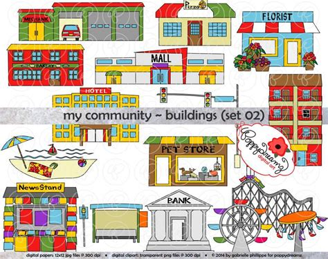 Police Station Floor Plan by My Community Buildings Set 02 Clipart 300 Dpi Transparent