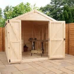 mercia ultimate 10 x 8 wooden garden shed 16mm shiplap
