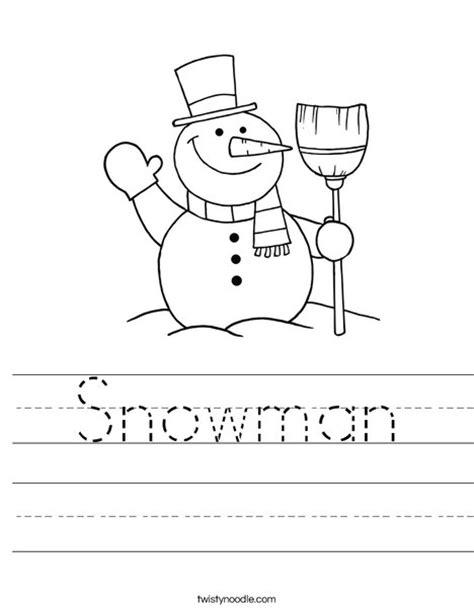 printable snowman activities for preschool snowman worksheet twisty noodle