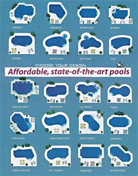 shapes of pools 25 best ideas about pool shapes on pinterest pool