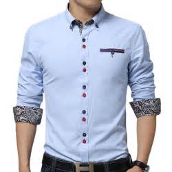 Design Shirts New Sky Blue Men Shirt Chemie Homme 2015 Fashion Design