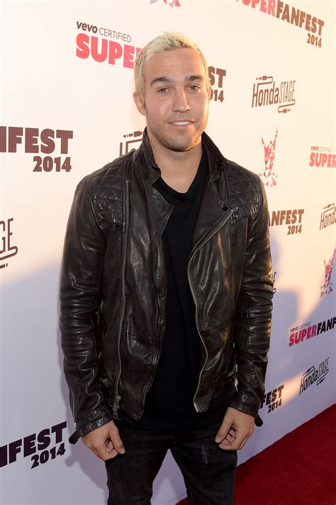 Pete Wentz Gets His Beard On by Pete Wentz Dyed His Hair Pink Proving That Guys Can