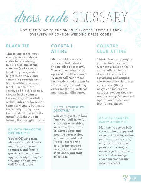wedding invitation etiquette dress code what does black tie or cocktail attire we